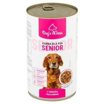Dog's Menu Senior Karma dla psa z cielęciną i kurczakiem 1240 g