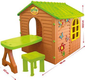 Domek ogrodowy MOCHTOYS Domek mały ze stolikiem