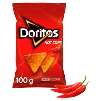 Doritos Hot Corn Chipsy kukurydziane o smaku ostrej papryki 100 g