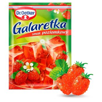 Dr. Oetker Galaretka o smaku poziomkowym 77 g