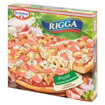 Dr. Oetker Rigga Pizza z szynką i pieczarkami z sosem czosnkowym 270 g