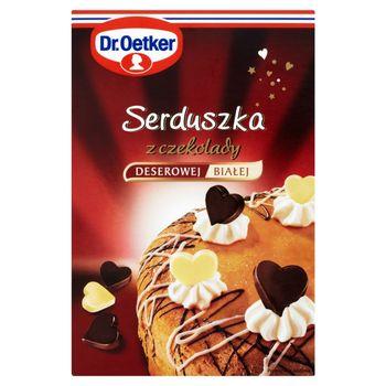 Dr. Oetker Serduszka z czekolady deserowej i białej 45 g (72 sztuki)