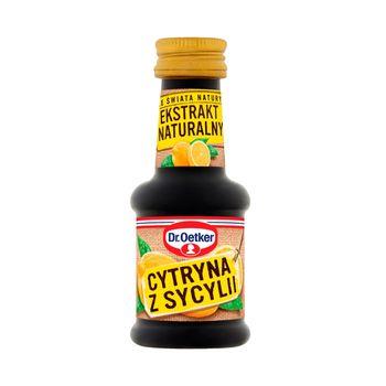Dr. Oetker Ze świata natury Ekstrakt naturalny cytryna z Sycylii 30 ml
