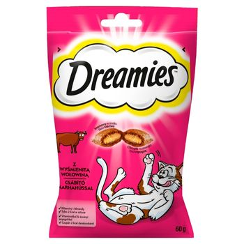 Dreamies Karma uzupełniająca z wyśmienitą wołowiną 60 g