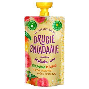 Drugie śniadanie Jaglanka+ mus gujawa mango płatki jaglane wiórki kokosowe 100 g