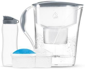 Zestaw Dzbanek do wody Dafi Luna 3.3 l + 2 filtry do wody + Bidon 0.7 l (mix)