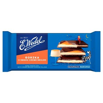 E. Wedel Czekolada gorzka o smaku crème brûlée 100 g