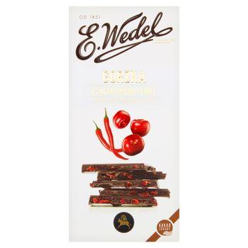 E. Wedel Premium Czekolada gorzka cząstki wiśni z chili 100 g