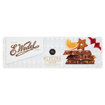 E. Wedel Premium Czekolada mleczna z cząstkami pomarańczowymi i ciasteczkami 220 g
