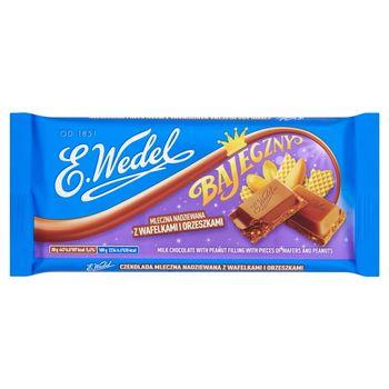 E. Wedel Bajeczny Czekolada mleczna nadziewana z wafelkami i orzeszkami 100 g