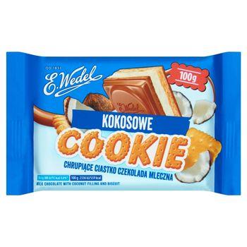 E. Wedel Cookie Czekolada mleczna z nadzieniem kokosowym i herbatnikiem 100 g