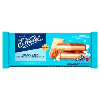 E. Wedel Cookie Czekolada mleczna z nadzieniem mlecznym z płatkami karmelowymi i herbatnikiem 290 g
