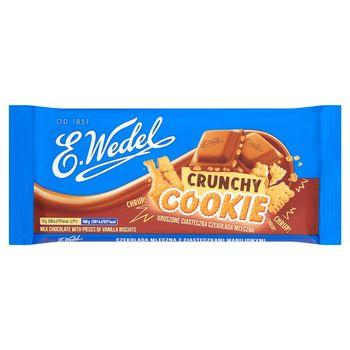 E. Wedel Crunchy Cookie Czekolada mleczna z ciasteczkami waniliowymi 90 g