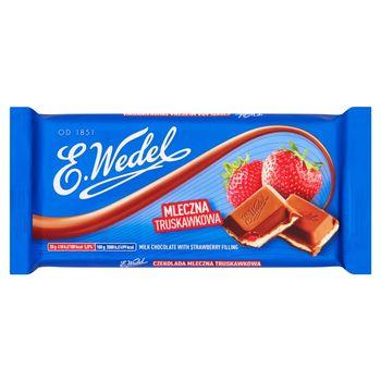 E. Wedel Czekolada mleczna truskawkowa 100 g