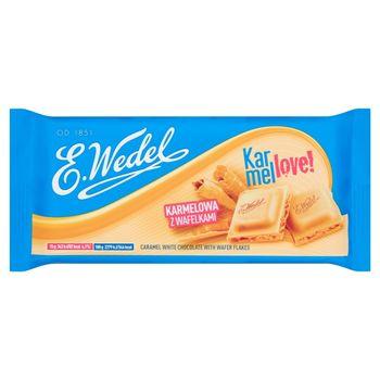 E. Wedel Karmellove! Czekolada biała karmelowa z wafelkami 90 g