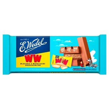 E. Wedel WW Czekolada mleczna z wafelkami orzechowymi 245 g