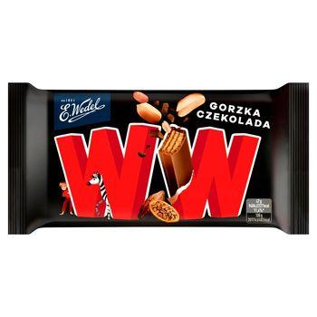 E. Wedel WW Cztery wafelki przekładane nadzieniem orzechowym arachidowym w czekoladzie gorzkiej 47 g