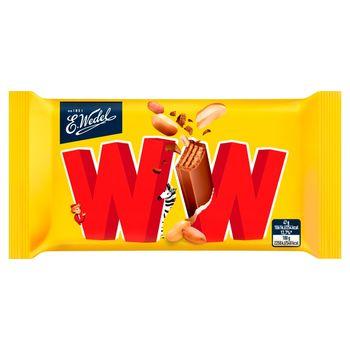 E. Wedel WW Cztery wafelki przekładane nadzieniem orzechowym arachidowym w mlecznej czekoladzie 47 g