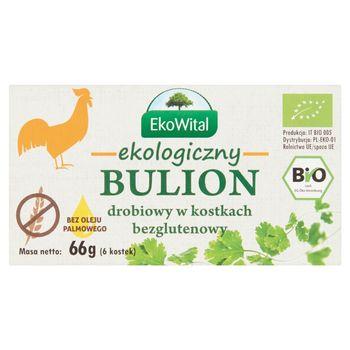 EkoWital Ekologiczny bulion drobiowy w kostkach 66 g (6 sztuk)