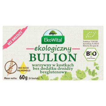 EkoWital Ekologiczny bulion warzywny w kostkach bez dodatku drożdży 60 g (6 sztuk)
