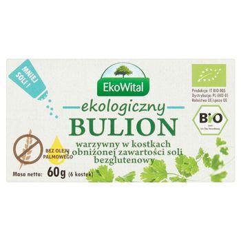 EkoWital Ekologiczny bulion warzywny w kostkach o obniżonej zawartości soli 60 g (6 sztuk)