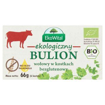 EkoWital Ekologiczny bulion wołowy w kostkach 66 g (6 sztuk)