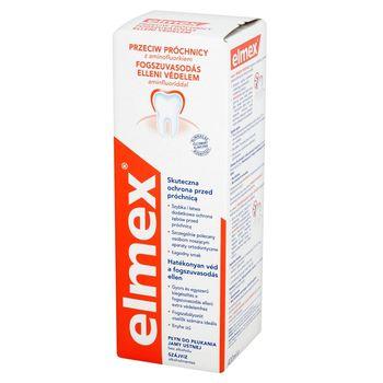 elmex Przeciw Próchnicy Płyn do płukania jamy ustnej bez alkoholu 400 ml