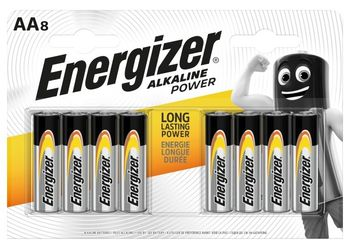 Energizer Alkaline Power AA-LR6 1,5 V Baterie alkaliczne 8 sztuk