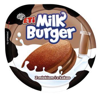 Eti Milk Burger Ciastko z mlekiem i z kakao 35 g