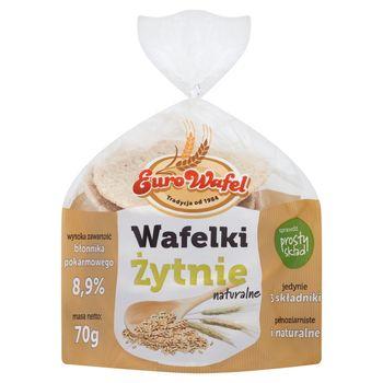 Eurowafel Wafelki żytnie naturalne 70 g