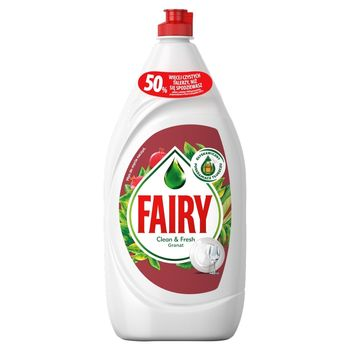 Fairy Clean & Fresh Granat Płyn do mycia naczyń 1,35 l