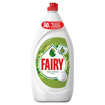 Fairy Clean & Fresh Jabłko Płyn do mycia naczyń 1350ML