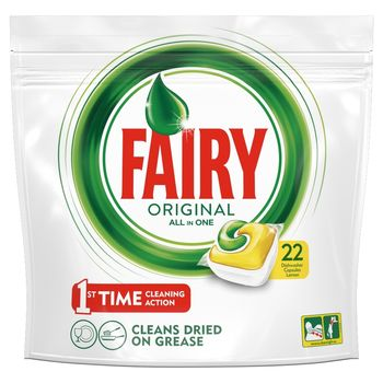Fairy Original All In One Lemon Tabletki do zmywarki 22 sztuk