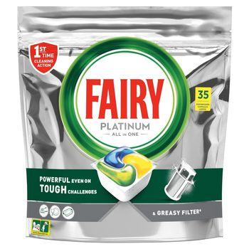 Fairy Platinum All In One Cytryna Tabletki do zmywarki, x35
