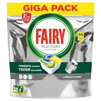 Fairy Platinum All In One Cytryna Tabletki do zmywarki, x66