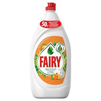 Fairy Clean & Fresh Pomarańcza z Trawą Cytrynową Płyn do mycia naczyń 1,35 l