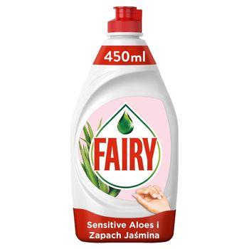 Fairy Sensitive Aloes i jaśmin Płyn do mycia naczyń 450 ml