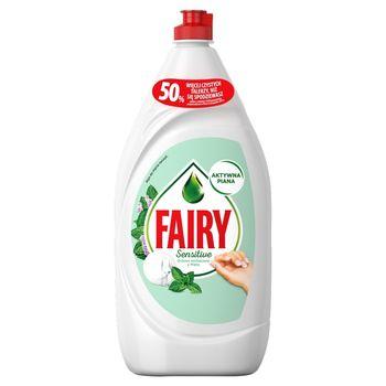 Fairy Sensitive Drzewo herbaciane z miętą Płyn do mycia naczyń 1,35 l