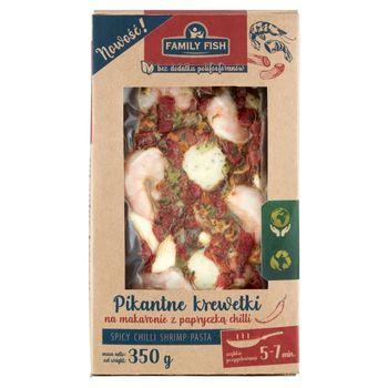 Family Fish Pikantne krewetki na makaronie z papryczką chilli 350 g