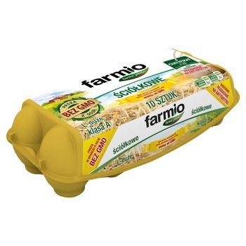 Farmio Jaja ściółkowe od kur karmionych paszą z soją bez GMO L 10 sztuk
