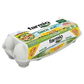 Farmio Jaja świeże od kur karmionych paszą z soją bez GMO L 10 sztuk