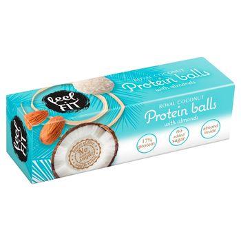 Feel Fit Kulki proteinowe z kremem o smaku kokosowym i z migdałem obsypane wiórkami kokosowymi 27 g