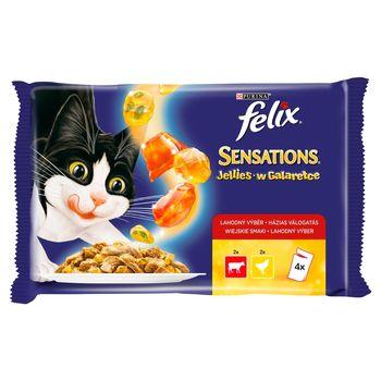 Felix Sensations Karma dla kotów w galaretce 400 g (4 x 100 g)