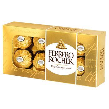 Ferrero Rocher Chrupiący wafelek z kremowym nadzieniem i orzechem laskowym w czekoladzie 100 g
