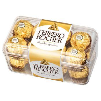 Ferrero Rocher Chrupiący wafelek z kremowym nadzieniem i orzechem laskowym w czekoladzie 200 g