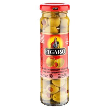 Figaro Hiszpańskie oliwki zielone nadziewane pastą paprykową 142 g