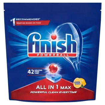 Finish All in 1 Max Lemon Tabletki do mycia naczyń w zmywarce 672 g (42 sztuki)