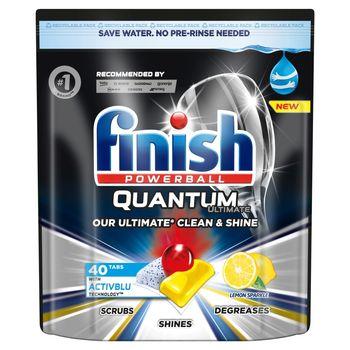Finish Quantum Ultimate Lemon Kapsułki do mycia naczyń w zmywarce 500 g (40 sztuk)