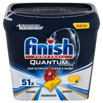 Finish Quantum Ultimate Lemon Tabletki do mycia naczyń w zmywarce 637,5 g (51 sztuk)