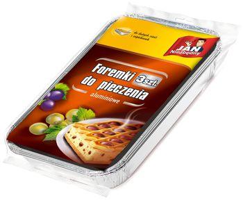 Foremka JAN NIEZBĘDNY Foremki do pieczenia dużych ciast i zapiekanek 3 sztuki